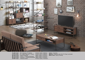 Picture of RECAFI COLUMBIA 2 DRAWERS TV CABINET ( TC-4871-CLB )